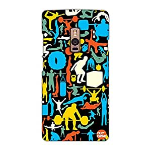 Designer OnePlus Two Case Cover Nutcase -Crossfit - My Gym Is Different