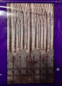 Creepy graveyard wall decor graveyard scene for Plaque decorative murale