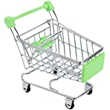 Niceeshop(Tm) Mini Supermarket Handcart Shopping Utility Cart Mode Desk Storage Toy,Green