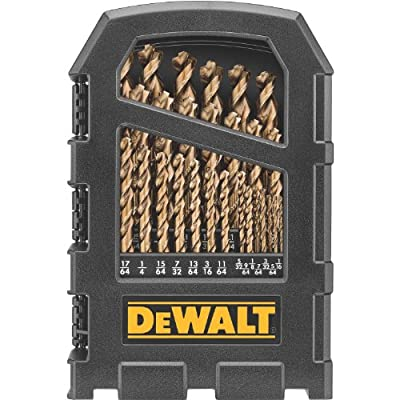 DEWALT DW1269 29-Piece Cobalt Pilot-Point Metal Drill Bit Index Set