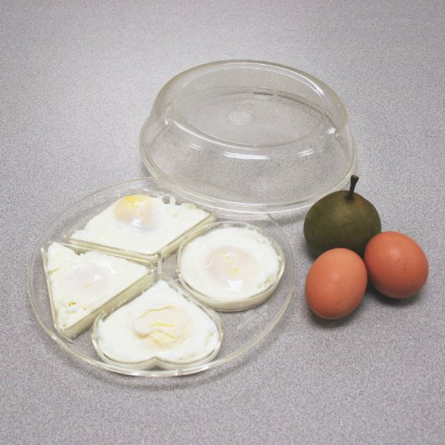 Hampton Direct Microwave Egg Poacher - Diamond, Heart, Triangle, Circle Shaped