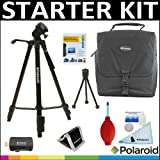 Deluxe Pro Starter Accessory Kit: Polaroid Tripod + Polaroid Camera Case + Cleaning & Accessory Kit For The Sony HDR-XR160, PJ10, MC50U, CX700V, CX560V, CX160, XR100, PJ580V, PJ30V, TD10, PJ50V, PJ200, CX200, CX260V, CX360V Handycam Camcorder