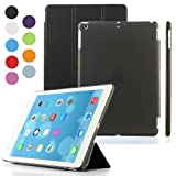 Besdata Ultra Thin Magnetic Smart Cover & Clear Back Case for Apple iPad Air (5th Gen) + Screen Protector + Stylus + Cleaning Cloth, Black - PT4100