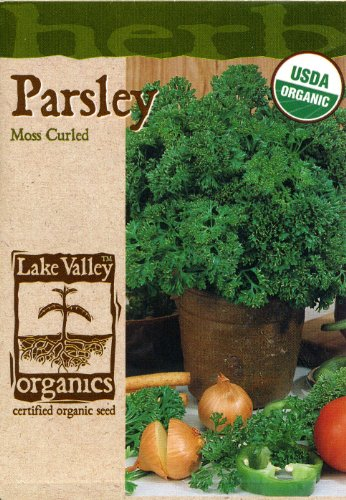 Lake Valley 858 Organic Parsley Moss Curled Seed Packet