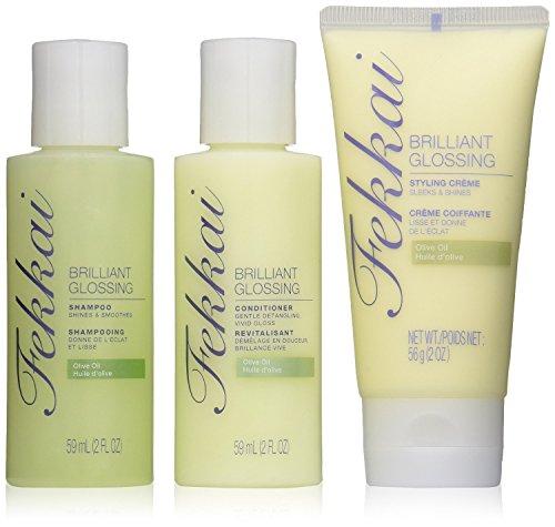 Fekkai Brilliant Glossing Starter Kit - Shampoo, Conditioner, and Styling Cream (Fekkai Glossing Starter Kit compare prices)
