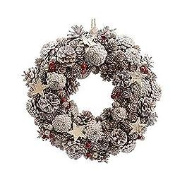 Corona natalizia Sacla Bianco