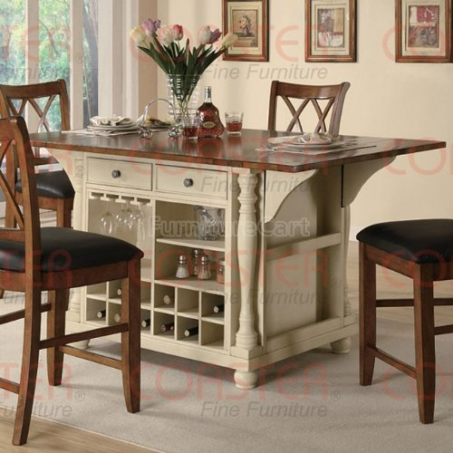 Cheap Large Scale Kitchen Island in a Buttermilk and Cherry Finish by Coaster Furniture (B005KBVU5I)