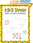 1-2-3 Draw Pets and Farm Animals