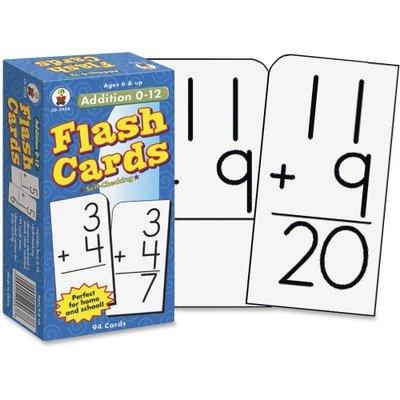 Carson Dellosa Flash Cards, Addition Facts 0-12, 3 x 6 Inches, 94/Pack (CDPCD3928) - 1