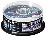 TDK 録画用ブルーレイディスク 25GB BD-R(1回録画用) 4X ホワイトワイドプリンタブル 20枚スピンドル BRV25PWB20PS