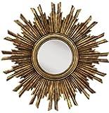 "Sole Mirror, 35.5""DIAMETERx2""D, GOLD"