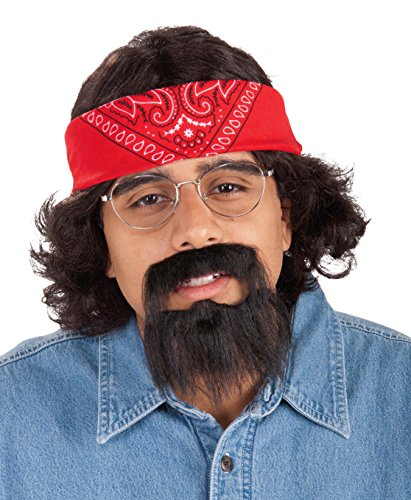 Forum Novelties Men's Chong Costume Kit with Bandana Wig and Beard