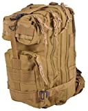 Sport Outdoor Military Rucksacks Tactical Molle Backpack Camping Hiking Trekking Bag-Tan