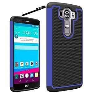 LG V10 Case, OEAGO LG V10 Case Cover Accessories - Shock-Absorption Dual Layer Defender Protective Case Cover For LG V10 (2015 Release) - Blue