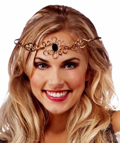Medieval Princess Gold Circlet Crown Adult Costume Head Ornament
