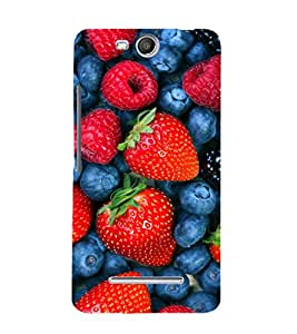 printtech Strawberry Fruits Back Case Cover for Micromax Bolt Q338