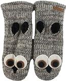 DeLux Owl Grey Wool Animal Mittens