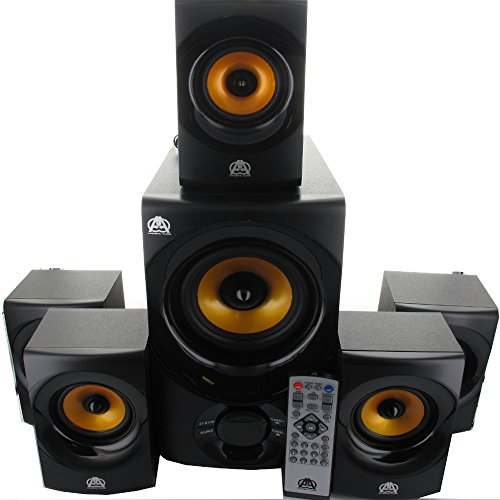 Discover Bargain Acoustic Audio AA5170 Home Theater 5.1 Bluetooth Speaker System 700W with Powered S...