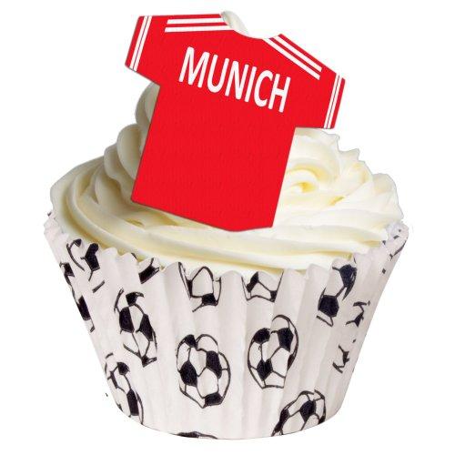 Fußball Trikot aus essbarem Papier: Bayern Munich / 12 Edible Football Shirts: Bayern Munich