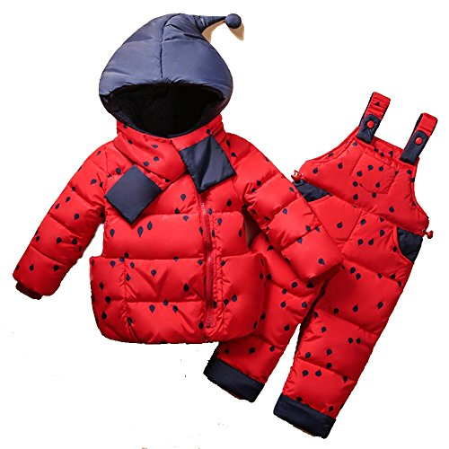 Fanala Winter Warm Baby Down Snowsuit Set Infants Down Jacket