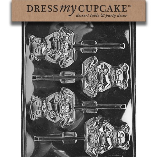 Dress My Cupcake Dmca072Set Chocolate Candy Mold, Honey Bear Lollipop, Set Of 6 front-502949
