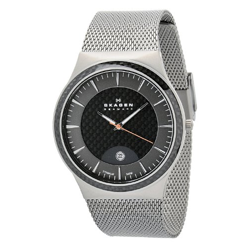 Skagen Designs Men's Quartz Watch with Grey Dial Analogue Display and Grey Titanium Strap 234XXLT
