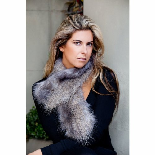 Sumptuous Faux Fur Tippet Scarf (Wolf Grey; L35 inches)