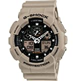 Casio Mens GA100SD-8A G-Shock Military Sand Resin Analog-Digital Watch