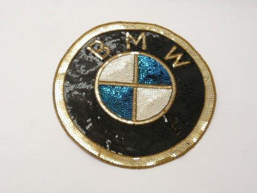 Large BMW Sequin Applique Sewing Patch 11 1/2