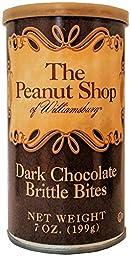 The Peanut Shop of Williamsburg Dark Chocolate Brittle Bites - 7 oz. Can