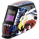 Antra AH6-260-6217 Solar Power Auto Darkening Welding Helmet with AntFi X60-2 Wide Shade Range 4/5-9/9-13 with Grinding Feature Extra lens covers Good for Arc Tig Mig Plasma CSA/ANSI Certified By Colts Lab