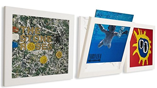 Art Vinyl Cornice Flip & Frame Confezione Tripla, Bianca