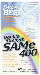 Doctor's Best SAM-e 400, 60-Count