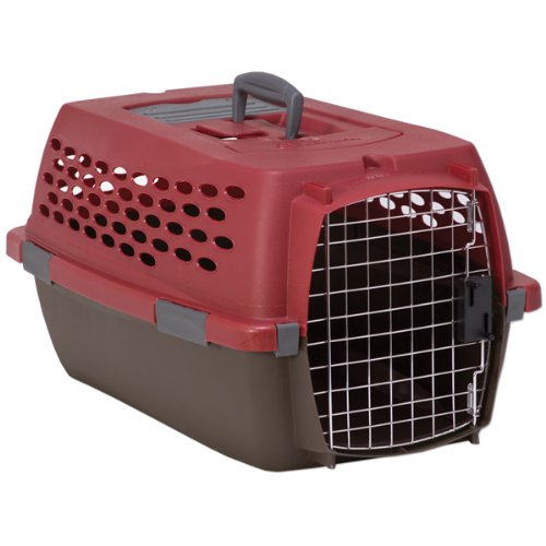 Discount Petmate Kennel Cab Fashion, Medium, Samba Red/Coffee Grounds