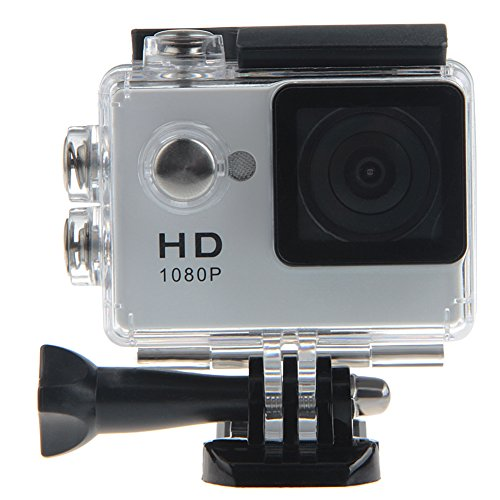 Padgene Full HD 1080P Sport Videokamera Camera Camcorder Action DVR Outdoor Wasserdichte Hülle (Silver)