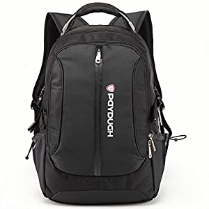 Paydugh Business Backpack Laptop Backpack Travel Backpack School Backpacks Sports 17 or 19inch (Black 19inch upgrade Version)