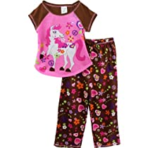 "Komar Kids ""Pretty Pony"" Pink Girls Pajamas Set (7/8)"