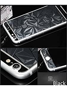 ScratchfreeHub Electroplated Mirror Finish Glossy Brushed Metal Effect Coloured 3D Diamond Front & Back Tempered Glass For Apple iPhone 6,6S,6G