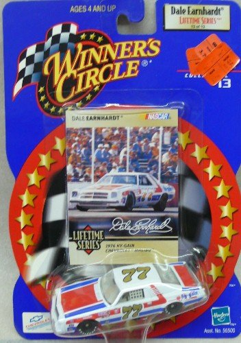 NASCAR - Winner's Circle - Dale Earnhardt Lifetime Series - 13 of 13 - No. 77 - 1976 Hy-Gain Chevrolet Malibu - 1:64 Die Cast Replica Car and Collector Card