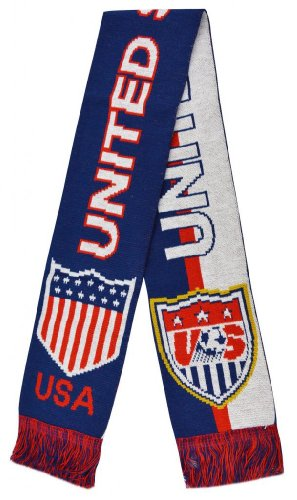 2014 World Cup The United States Super Football Jacquard Scarf - Multi One Size at Amazon.com
