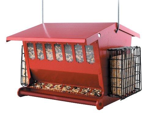 Audubon Seeds 'n More Metal Hopper Bird Feeder Model 7452R