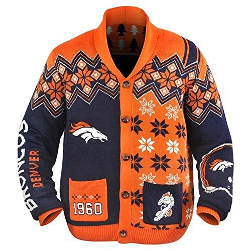 Denver Broncos NFL Adult Ugly Cardigan Sweater