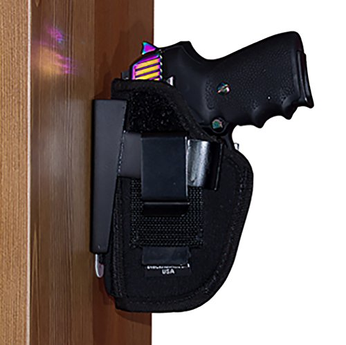 By My Side Holster® Mount For Vehicle, Under Desk or Bedside - Wide Size with Side Mount Adapter - Fits Glock, S&W M&P, Taurus Model 85 and Similar Large Frame Handguns (Steering Wheel Holster Mount compare prices)