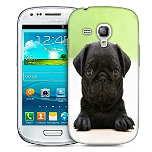 Snoogg Black Puppy Designer Protective Phone Back Case Cover For Samsung Galaxy S3 Mini