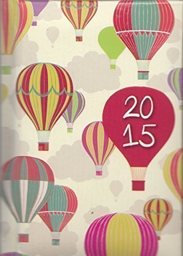 2015 Week To View Pocket Diary - Hot Air Balloons