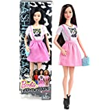 Mattel Year 2014 Barbie Fashionistas Series 12 Inch Doll Neko (Cln66) With White And Pink Kitty Dress, Necklace...