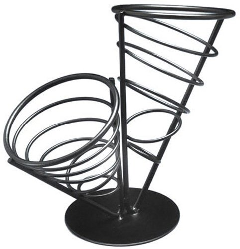 American Metalcraft FCB22 Wrought Iron 2-Cone Conical Bread Basket, 9-1/2-Inch (Wrought Iron Bread Basket compare prices)