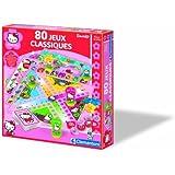 Clementoni - 62539 - Jeu de société - Mallette - 80 Jeux Classiques Hello Kitty