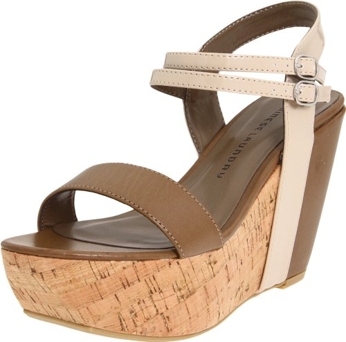 Chinese Laundry Women's Go Getter Sandal,Taupe/Dark Brown,6.5 M US