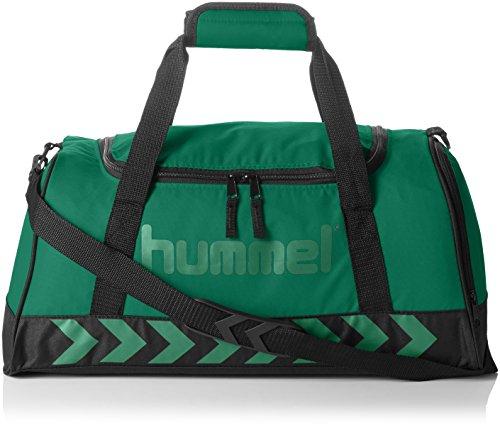 hummel-tasche-authentic-sports-bag-evergreen-black-50-x-23-x-27-cm-31-liter-40-957-6241